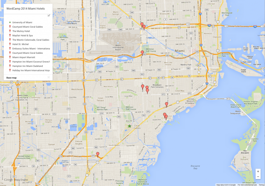 Recommended WordCamp Miami 2014 Hotels